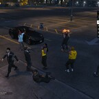 Flashmob am Autokino